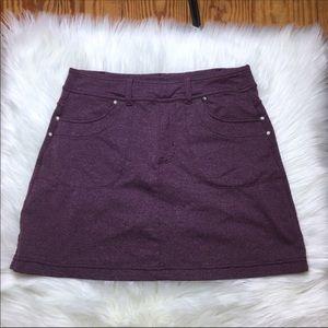 Athleta Purple Marled Mini Skirt Skort XS